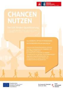 ESF Plakat Qualifizierung Föz Sprachförderung